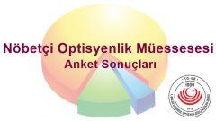 Nöbetçi Optisyenlik Müessesesi Anket Sonuçları Hakkında